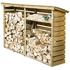 Rowlinson Garden Products Large Wooden for Firewood Log Storage