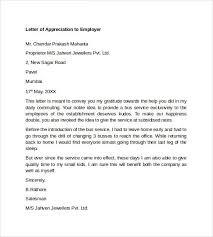 Appreciation Letter Boss Employee Template Home Design Idea