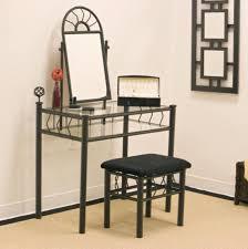 Metal Bedroom Vanity Exquisite Decorating Ideas Using Rectangular Black Wooden Vanity