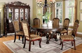 Furniture of America Me ve Round Dining Set Collection Cherry Finish