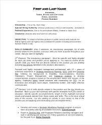 A federal resume is a document for starting or advancing your government career. Free 8 Sample Format For Resume Templates In Pdf Ms Word