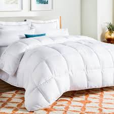 amazoncom linenspa allseason white down alternative quilted