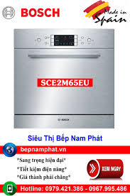 Máy rửa bát lắp bán âm loại nhỏ 8 bộ SCE52M65EU nhập khẩu Tây Ban Nha,
