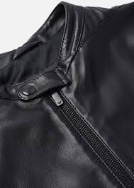 emporio armani men s leather jacket