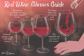 Wine Glass Size Chart Understanding Red Wine Glass Types And Shapes