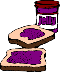 grape jelly clipart.  Clipart Clipart Free Stock Colorized Peanut Butter And Sandwich With Label With Grape Jelly Clipart L