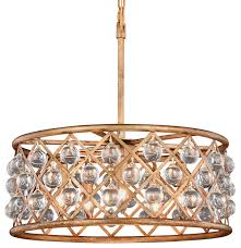 crystal grid hoop 5 light 20 chandelier antique gold with led bulbs