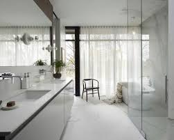 Large trendy master white tile and stone slab bathroom photo in Chicago  with an undermount sink