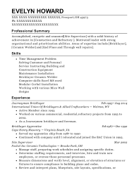 Bricklayer Job Description Resume Best Of Best Bricklayer Apprentice Resumes ResumeHelp