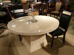 picturesque round stone dining table home intercine in intended for amazing round marble dining table