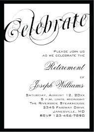 Retirement Invitations Free Retirement Invitations Shukyakumaster