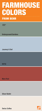 if you are in love with the farmhouse look consider these paint colors from behr it s the perfect palette for a warm backdrop to a room or the focal point