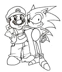 Sonic And Mario Coloring Pages Mario Bros Games Mario Bros