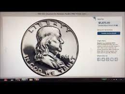 1961 Half Dollar Value Chart 1961 Benjamin Half Dollar Sells For 5875 What Makes This So