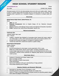 Resume Examples For Highschool Students Resume Corner