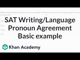 Pronoun Antecedent Agreement Writing Pronoun Antecedent Agreement Basic Example Video Khan
