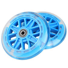 Razor Scooter Light Up Wheels Replacement Kutrick 120mm Led Light Up Scooter Wheels 120mm Replacement Pair With Bearing For All Mini Kick Scooter With 120mm Wheels Such Micro Globber Blue