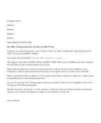 A Job Offer Letter Format A Job Offer Letter Format Business