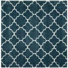 slate blue ivory 7 ft x square area rug geometric modena country n