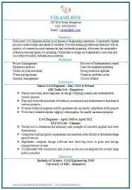 Resume Format Of Civil Engineer Fresher Resume Template Easy