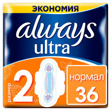<b>Women's Sanitary Pads Strip</b> Always Ultra Normal 2 size 36 pcs ...
