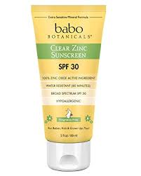Babo Botanicals SPF <b>30 Clear Zinc</b> Lotion - Fragrance Free, 3 ...