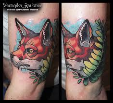 сделать татуировку нео традишнл москва мастер Veronika Raubtier