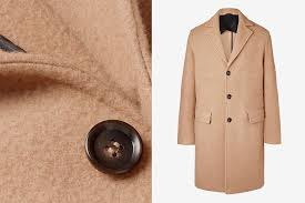 photo mr p virgin wool and camel overcoat