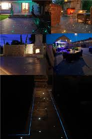 fiber optic outdoor light for deck