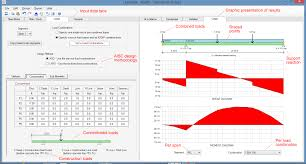 Free Steel Beam Design Calculator Steel And Composite Beam Design Using Asdip Steel Software