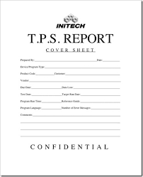 Initech Memo New Cover Sheet For Tps Reports