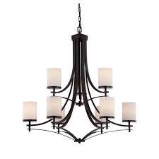 savoy house colton bronze nine light chandelier