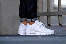 nike shoes white air max. nike air max 90 leather mens shoes triple white 302519-113 nib $120 sneakers white