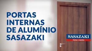 Porta de madeira frisada cantareira 210cmx70cm melamínico mgm mogno. Porta Interna De Abrir Aluminio Madeira Sasazaki Portas E Janelas