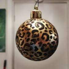 Cheetah print Christmas ornament :)