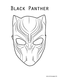 Print Marvel Movie Black Panther Mask Coloring Pages Cakes In 2019