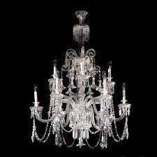 a fine and large translucent crystal chandelier by baccarat