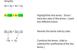 example 1 combining like terms