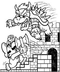 Battle Mario Coloring Pages Mario Bros Games Mario Bros Coloring