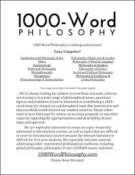 submissions word philosophy call for essays for 1000 word philosophy