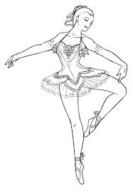 Dancing Ballerina Coloring Pages Coloring Pages Free Printable