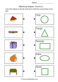 Printable Shape Matching Worksheets on 3d shape matching worksheet ...