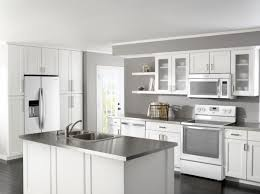 image of white kitchen cabinets with white appliances