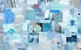 Blue Collage Aesthetic Desktop ...