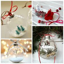 Elegantly Adorable ideas for ways to fill glass ornaments at  thehappyhousie.com