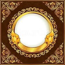 gold frame border vector. Interesting Gold Gold Frame With Ornamental Border Vector To Frame Border Vector Colourbox