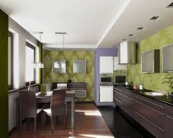 Modern Kitchen Wallpaper Kitchen Interior With Photo Wallpapers You Should Try Too Home