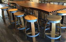 Custom Made Barrel Stave Bar Top Kitchen Counter Dining Room