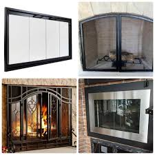 replacement glass fireplace doors