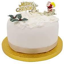 Christmas Cake Decorations Santa 4 Piece Set Cupcake Decoration Toppers Merry Christmas 4pc Amazon Co Uk Kitchen Home